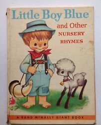 1958 Rand Mcnally Giant Book Little Boy Blue And Other Nursery Rhymes 9½ X 12½