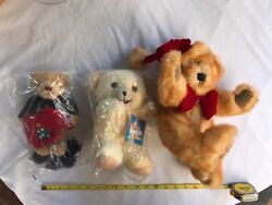 3 New Collectible Plush Teddy Bears
