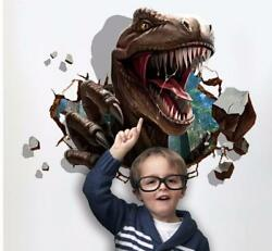 3D dinosaur T rex Removable Wall Stickers Decal Kids bed room Home Decor USA