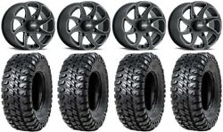 Itp Twister 14 Wheels Milled 30 Chicane Rx Tires Can-am Maverick X3