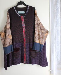 Nothing Matches 3 L Xl 1x 2x Funky Patchwork Tunic Art-wear Lagenlook Shirt Top