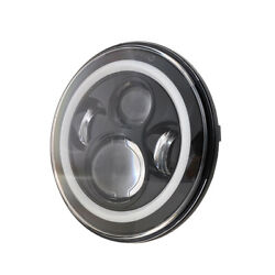 7 Led Headlight Projector Halo Ring Angel Eye Headlights For Cars And Motorcycles