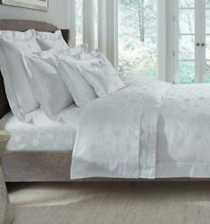 Italy Sferra Giza 45 Jacquard Luxury Egyptian Cotton Fitted Sheet Floral Pattern