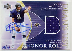 2003 Upper Deck Honor Roll Kyle Boller Auto Jersey Rc 2004 Ultimate Buyback /14