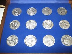 The Medallic History Of The Jewish People In Our Time 12 Silver Medals