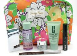 Clinique 7 Pc. Lot Eye Shadow, Eyeliner, Mascara, Take The Day Off, Soap, Bag +