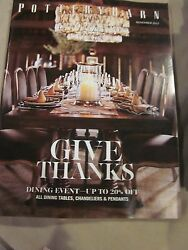 Pottery Barn Catalog Look Book November 2015 Give Thanks Dining Event Brand New