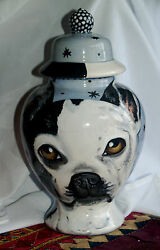 Custom Boston Terrier Pet URN DOG cremation ANY BREED medium bulldog one of kind