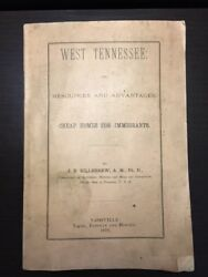 Rare 1879 West Tennessee Resources And Advantages Cheap Homes For Immigrants Map