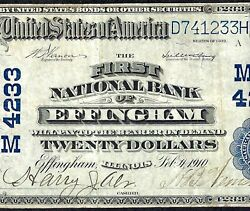 Il 1902 20 ♚♚ Effinghamillinois ♚♚ Very Rare Note