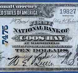 Or 1902 10  ♚♚ Marshfield,oregon ♚♚ The First Nb Of Coos Bay   Very Rare