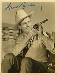Gene Autry In-person Signed Vintage Photo