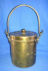 Antique 1900'c Indian Old Brass Hand Carved Indian Milk/oil Can Storage Pot Box