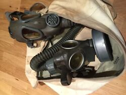 Ww2 1944 Us Army Paratrooper Jump Bag With German And Usa Gas Masks