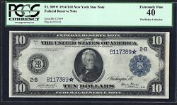 1914 10 Frn Burkeandglass ♚star♚ ♚star♚ Pcgs Extremely Fine 40 Very Rare