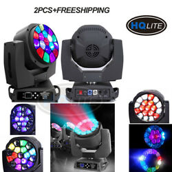 2PCS FREESHIPPING LED 19*15w RGBW 4IN1 bee eye beam zoom moving head LIGHT