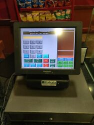 Panasonic Js-790ws Pos Touchscreen Register System With Printer And Cash Drawers