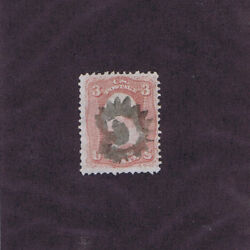 Sc 65 Used 3c, 1861, G In Circle Fancy Cancel, Guilford Ct Pf Cert