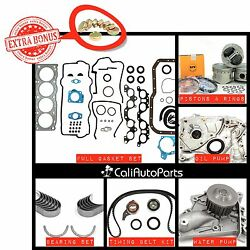 FITS: 90-95 TOYOTA MR2 CELICA 2.2L 5SFE DOHC MASTER OVERHAUL ENGINE REBUILD KIT