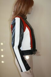 Collection Moto Motocross Motorcycle Leather Jacket 6 Nwt 2498