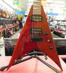 TEAM GJ by GROVERJACKSON KING V MODEL Red Electric Guitar with Soft Case