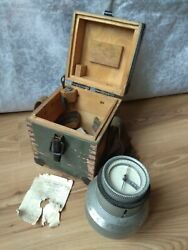 Vintage Soviet Compass Goniometer Surveying Angle Meter Russian Protractor Ussr