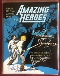 Star Wars Signed Prowse Ford Hamill Fisher Baker Mayhew Comic Amazing 1983