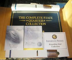 1999-2008 Franklin Mint Complete 50 Us State Uncirculated Quarter Collection Set