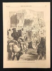 Antique 1873 Book Print/plate Queen Anne's Last Progress To The Parliament House
