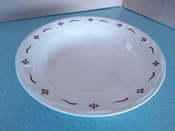 Longaberger Pottery Large Pasta Bowl Traditional Red New W/box Vegetable Serving