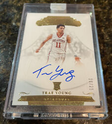 2018 Trae Young Rc Flawless Collegiate Auto Sp 16/25 Gold Rookie Panini Sealed