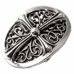 Authentic [chrome Hearts] Oval Belt Buckle Standard 3w X 2h