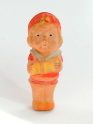 Primitive 1950 Vintage Antique Rubber Squeals Toy Doll Girl Made In Japan Signed