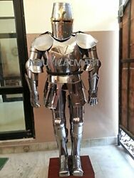 Medieval Epic Knight Crusader Full Suit Of Armour Templar Wearable Costume