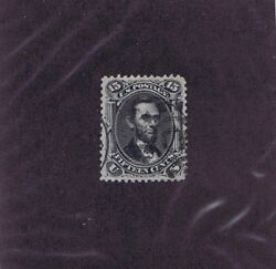 Sc 77 Used 15c Lincoln 1866 Partial Cancels Psag Cert Graded Xf 90 Wow