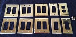 Brass Wallplate Light Switch Outlet Covers Switchplate Lot