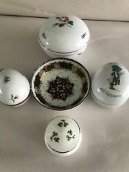 4 Vintage Trinket Boxes Made in  Austria Hungary  Ireland Brazil