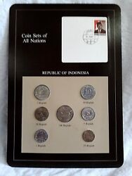 Coin Sets Of All Nations - Rep Of Indonesia Set Franklin Mint 1970-1979 7 Coins