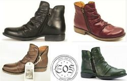 New Eos Leather Comfort Zip Up Ankle Boots Eos Footwear Portugal Willet Special