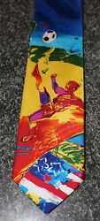 Vintage Retro Menand039s 1994 World Cup Usa Rm Style Vibrant Soccer Neck Tie