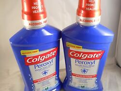 Colgate Mouthwash Peroxyl Mouth Sore Rinse Mild Mint 16.9 oz (2pk) exp 9-2020