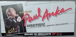 An Evening With Paul Anka Video Dealer Promo 24 X 11 Poster1985collectible