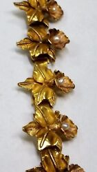 Antique 18k Yellow Gold Tricolor Handmade Bracelet 7 1/2 Inches Price Reduced