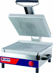 Ampto Ssge Giant Panini Grill 17-1/4and039and039 X 17and039and039 Ribbed