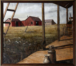 Thomas Kerry View of Field from Porch Oil Painting