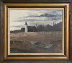 Thomas Kerry Lighthouse Oil Painting