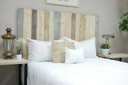 Farmhouse Mix Headboard Hanger Style Handcrafted. Mounts On Wall.