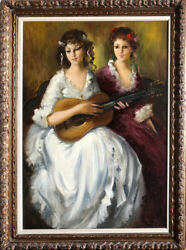 Violetta Koszeghy Two Women at the Music Ball Oil Painting