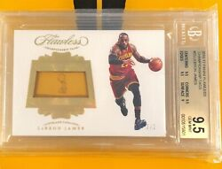 2016-17 Flawless Lebron James Championship Tag Patch 22 BGS 9.5 11