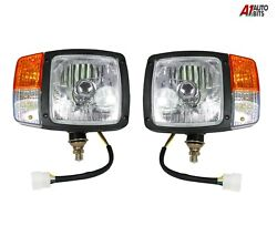 Lh And Rh Head Side Lights Wired Lamps Indicator H4 Lamps For Jcb Manitou Matbro